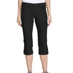 Eddie Bauer Rainier Capris Black NEW Womens 14